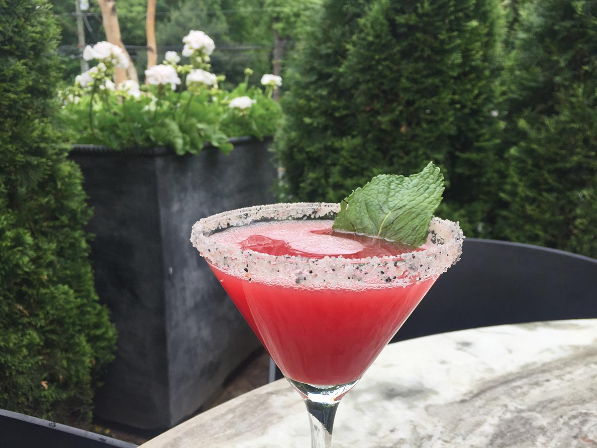 Serving Up: Watermelon Mint Martini at Viron Rondo Osteria