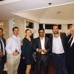 Alex Oporto, Banquet Manager, Water's Edge; Claudio Marasco, Finance and Legal Advisor, Water's Edge; Jillian Simms, Cellar Fine Wines; Anil Kumar, Food and Beverage Director, Water's Edge; Benedetto Baracchi, Winemaker; Charles Staub, Restaurant Manager, Water's Edge.