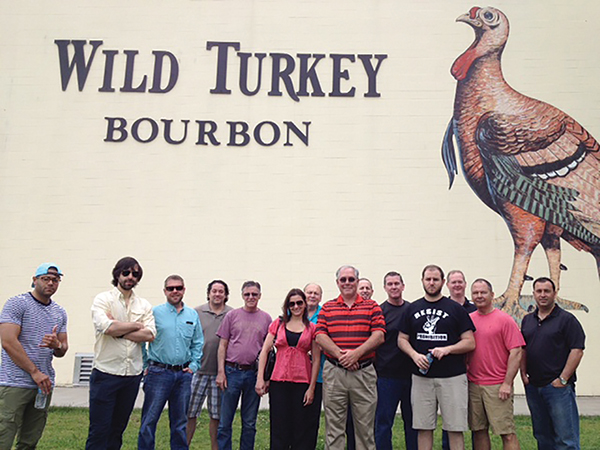 WILD TURKEY HOSTS TEAMS FROM TWO REGIONAL WHOLESALERS