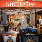 Shock Top booth and marketer.