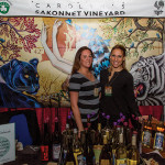 Sakonnet Vineyard's Amanda Saccoccio, Events Operations Manager and booth guest.