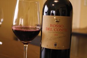 Rosso del Conte from Tasca d'Almerita, Sicily.