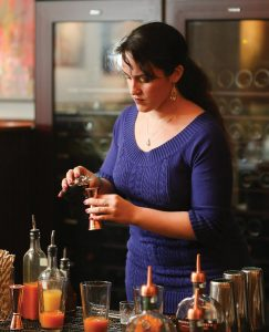 Christina Mercado of Grace Vanderbilt was named the winner with her cocktails Morning Manhattan and Roots.