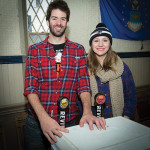 Both from Revival Brewing Company in Cranston, RI: Alex Roskowski, Brewer, and Michaela Brinkley, Customer Service and Marketing Coordinator. Rhode Island Winter Beer Blast 2016.