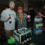 Chris Martelly, Sales, Atlantic Distributing and Importing and Scott Allan, Brewery Rep., Jack's Abby Craft Lagers of Framingham, MA. Rhode Island Winter Beer Blast 2016.