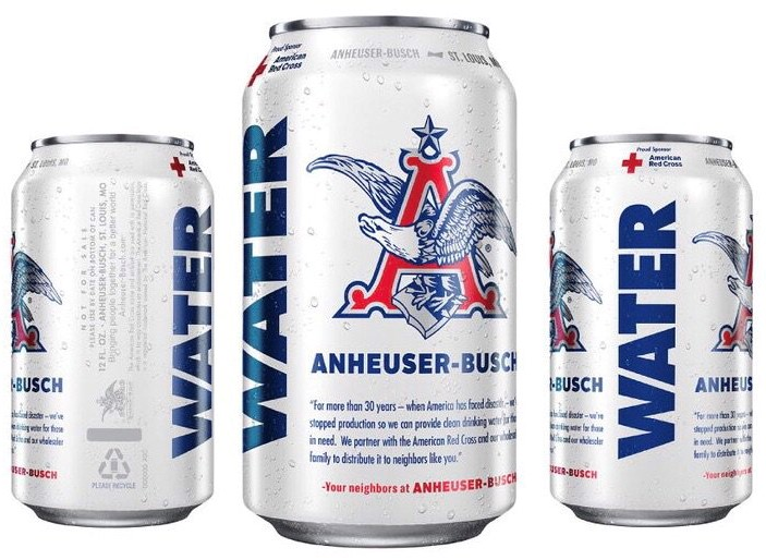 Anheuser-Busch Sends Canned Water for Hurricane Florence Relief