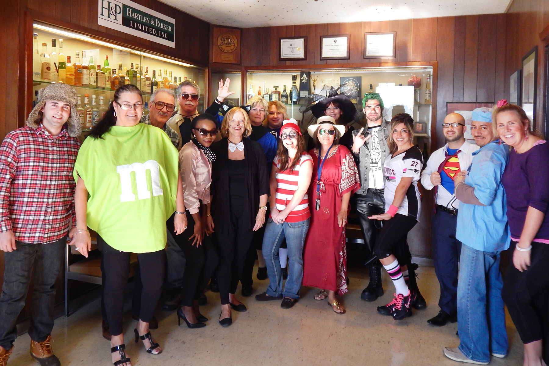 hartley parker employees get spirited on halloween
