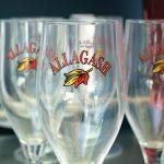 Allagash Brewing Company branded glasses at Eli Cannon's.
