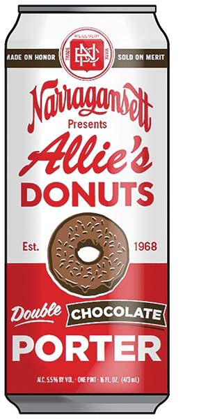Allie's Donut Shop and Narragansett.
