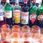 The portfolio lineup featuring Aperol, Campari, Cinzano 1757, Averna, Braulio, Cynar, Cynar 70 and Frangelico.