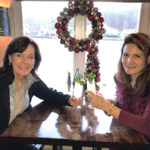 """Laura Lombardi, Sales Representative, Angelini Wines and Jennifer Recker, Manager and Owner, Stone's Throw Restaurant in Seymour, with the """"Limoncello Sparkler."""""""