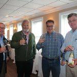 Michael Dudeff, Sales, Angelini Wine; Tom Broadhurst, Wine Consultant; Mike Sussman, Sales, Angelini Wine; and Tom McGrory, Sales, Angelini Wine.