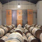 During a cellar tour at Livon.