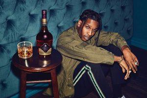 "A$AP Rocky, brand ambassador for ""Honor Your Code"" Courvoisier Cognac campaign."