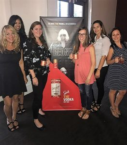 Donna Taylor, Promotions; Tina Kumar, Promotions; Stacey Pabst, Connecticut Distributors, Inc.; Callie Bak, Connecticut Distributors, Inc.; Chrissy Amatrudo, Connecticut Distributors, Inc.; and Kristie Formato, CT Market Manager, Stoli Group.