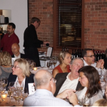 Guests gathered together for the wine dinner featuring Italian selections from Aventine Hill Importers at Paci's Restaurant.