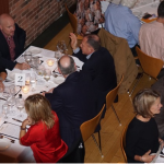 Guests during the wine dinner.