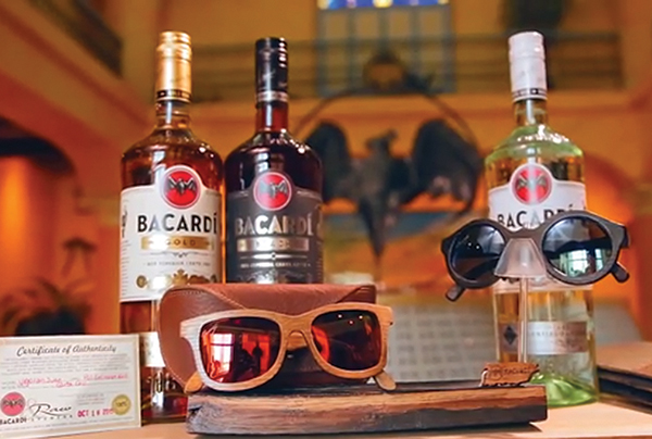 Bacardi Recycles Oak Barrels Into Wood Sunglasses