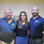 from Battle Road Brewing Company: Scott Houghton, Co-founder and Brewer; Maria Rocci, President; Jeremy Cross, Co-founder and Brewer.