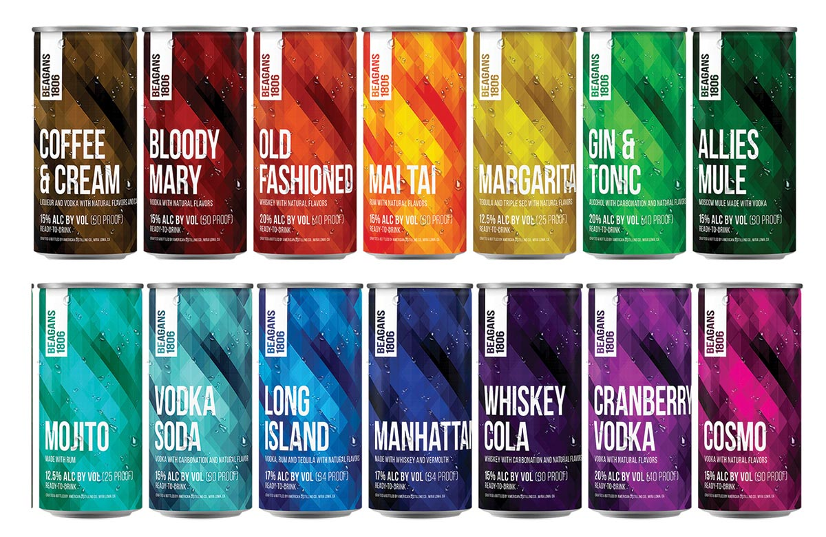 Beagans 1806 Craft Cocktail Line Launches in Rhode Island
