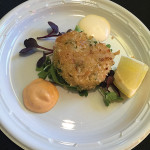 The Library Wine Bar and Bistro's Crab Cakes.