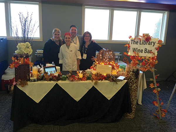 All of The Library Wine Bar and Bistro: Angelina Mancarella, General Manager; Filomena Zuba, Pastry Chef; Christopher Barone, Server and Bartender; Gressa Quinn, Server.
