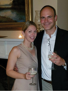 Eva Maria Janerus, Co-Founder and CEO with Kevin Mowers, Founder and President, Bom Bom Coco Mochanut, during the gala event.
