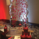 Guests were able to enjoy chilled liqueur from the Bom Bom sponsored ice luge.