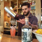 Craig Ventrice, Bar Manager, Jesup Hall in Westport, creating cocktails featuring Born and Bred Vodka.