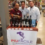 Piu Facile wines are now available at Wine & Beyond in Norwalk. Mason Hernandez, Alex Dizenzo and Brian Price, all from Wine & Beyond, during an in-store tasting.