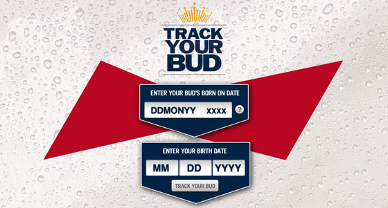 Anheuser-Busch InBev Launches 'Track Your Bud'