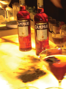 Bottles of Campari at 116 Crown in New Haven.