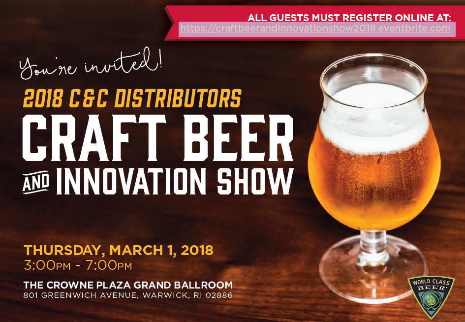 March 1, 2018: C&C Distributors Craft Beer And Innovation Show (Trade-Only)