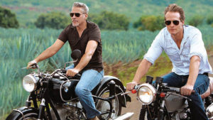 The recent Casamigos advertising campaign features Rande Gerber and George Clooney on a motorcycle trip through Jalisco, Mexico: