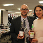 Jeremy Doyle and Michelle Ortago, both of CDI with Seaglass and Pomelo rosés.