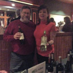 Rose McLean, Wine Account Development Specialist, CDI and Peter Turner, Manager, Infinity Music Hall and Bistro.