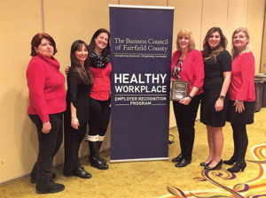 All from Connecticut Distributors, Inc.: Mary Padgett, Warehouse Assistant; Sandra Terenzio, ADS/Trade Marketing Manager; Kristin Ferrara, On-Premise Sales Representative; Virginia Viglione, Executive Assistant; Macy Engengro, Human Resource Administrator; and Maura Tancredi, Director of Human Resources.