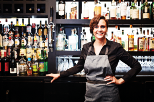 "Bartender Jenn Knott at 312 Chicago created her award-winning ""Mama I'm Coming Home"" using cider, pecan-infused Scotch, Fonesca Bin 27, honey syrup, cinnamon sticks and cloves."