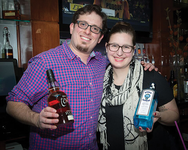 "Jonathan Pogash, ""The Cocktail Guru"" and Elizabeth Sawtelle, Secretary, USBG RI Chapter."