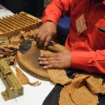 Hand rolled cigars were available during Whiskey Union.