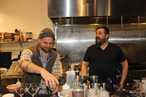 Anthony DeVito of Max Amore, first place winner with competitor Jeffrey Hodson of Hub & Spoke.