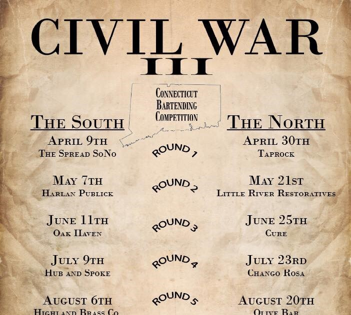 September 10, 2018: USBG 3rd Annual Civil War Bartending Competition Finale