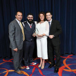 The Capital Grille was named 2016 Upscale Restaurant of the Year. The Capital Grille's Nick Santangelo, Dining Room Manager; Nick Gianfredi, Executive Chef and Partner; Kathy Rice, Sales Manager; David Contino, Managing Partner. Photo by Brian Ambrose.