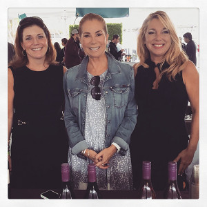 Kathie Lee Gifford and Gifft Wines with Tricia Maffei and Donna Taylor of Vine Ventures on September 26, 2015.