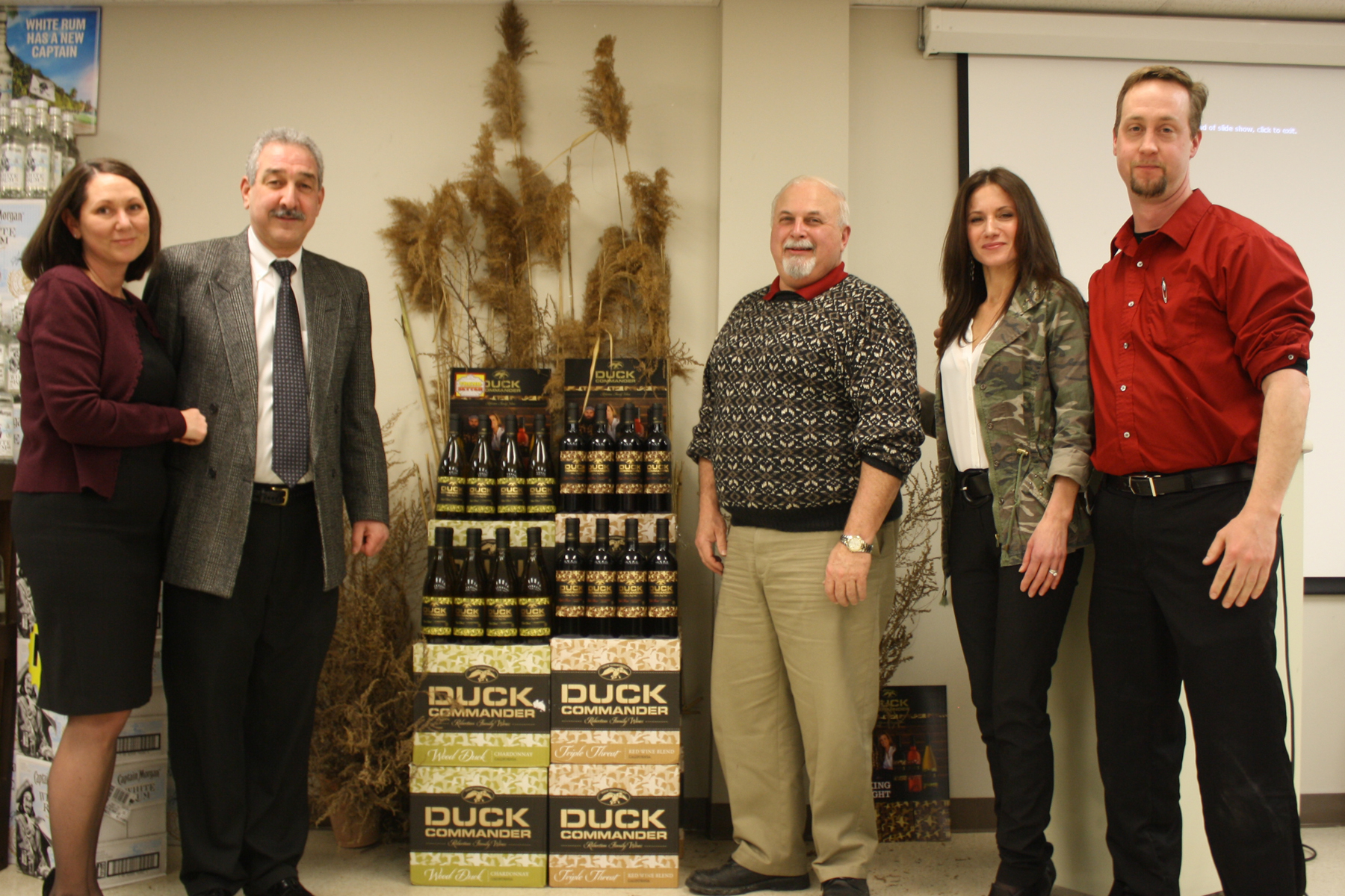 Michelle Yackel, Business Manager, CDI; Doug Ramey, Sales Representative, CDI; Gary Costa, Sales Representative, CDI; Teresa Drew, Trinchero Family Estates Regional Manager; and Dave Unever, Sales Representative, CDI.