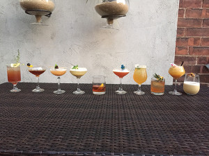 The selection of cocktails made during the competition.