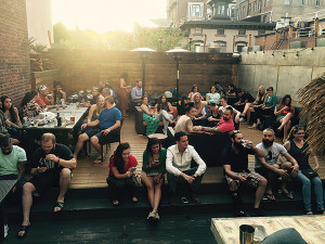 The USBG CT Civil War Bartending Competition took place on the rooftop at Elm City Social.