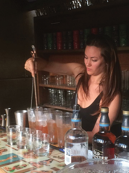 Jessica Rapuano, Bartender, Elm City Social, won the seventh competition.