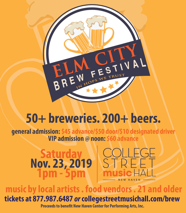 November 23, 2019: Elm City Brew Festival