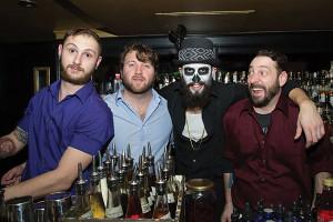 The Dorrance bar staff: Greg Mayer; Tyler Schweppe; Shane DiBiasio; and Vito Lantz.